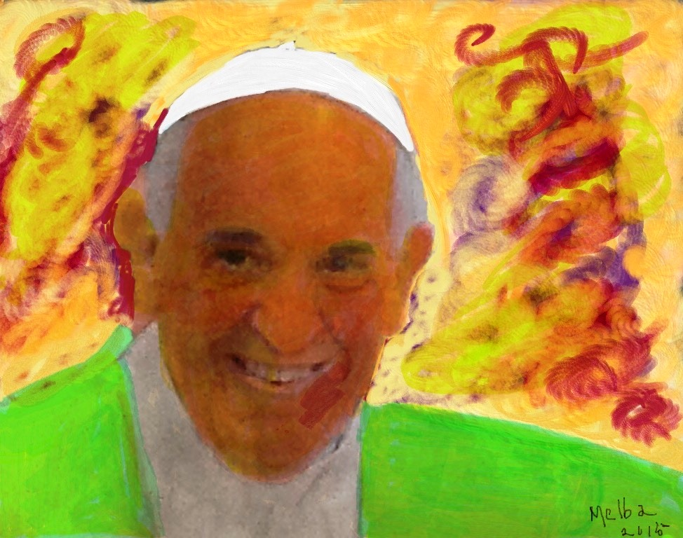 Pope Francis 2 by Melba