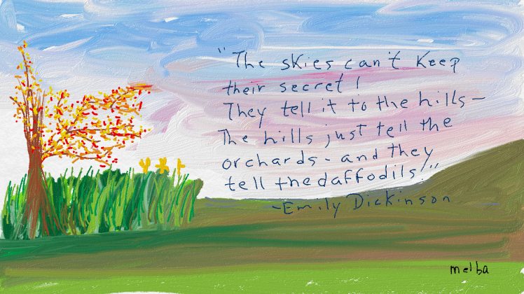 Emily's Quote on my landscape